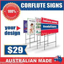 Custom Corflute Signs 900mm x 600mm x 5mm  - Australian Made