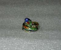 14K YELLOW GOLD NO STONE VINTAGE ENAMEL SNAKE RING - SIZE 6.25  -  LB2087