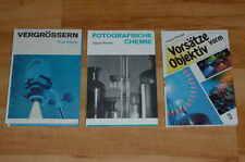 3  Foto - Technik Bücher / Analog - Technik / PHYSIK CHEMIE FILTER Entwickeln