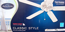 """HARBOR BREEZE 52"""" 5-Blade """"Classic Style"""" Energy Star Ceiling Fan - WHITE - NEW"""