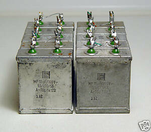 10x MP-Kondensator 10 µF / 160V für High-End Lautsprecher-Weichen, etc.