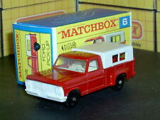 Matchbox Lesney Ford Pick Up Truck white grille & top 6 d1 SC2 NM & crafted box