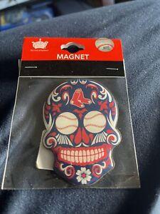 Boston Red Sox Sugar Skull Magnet MLB