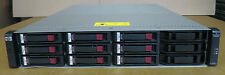 HP STORAGEWORKS AJ750A MSA2000 STORAGE ARRAY W/ DUAL HP AJ751A 9x 450GB 15K