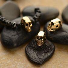 Mini Natural Bronze Skull Bead