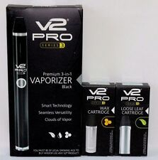 V2 Pro Series 3 Kit~BLACK~Loose Leaf & Wax Cartridge~Authorized V2 Dealer