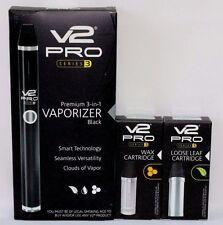 V2 Pro Series 3 Kit~BLACK~Loose Leaf & Wax Cartridge~Authorized V2 Dealer