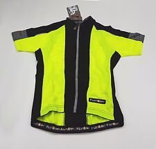 Funkier Kid's Short Sleeve Summer Cycling Jersey J-729K 12 Years Old Neon Yellow