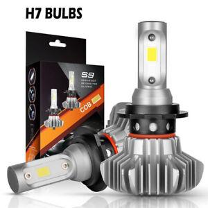 Pair H7 Led Car Headlight Kit 120w 18600lm Driving Light Conversion Bulb 6500k