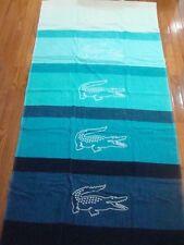 LACOSTE AQUA SCUBA BEACH TOWEL 36X72