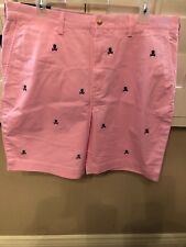 "NWT POLO RALPH LAUREN MEN'S PINK CHINO SHORTS CLASSIC FIT 9"" SKULL/CROSSBONES 36"