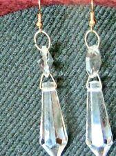 6pz pendente goccia cristallo verde smeraldo orecchini con gancio argentato