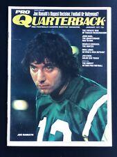 1971 Pro Quarterback Magazine Joe Namath New York Jets EX