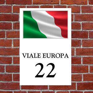 Custom Italy flag house sign 9310 with your choice of text Patriotic Italian