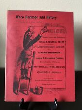 Waco Heritage & History Foundation Vol 3 #1 Spring 1972 Odds & Ends Texas