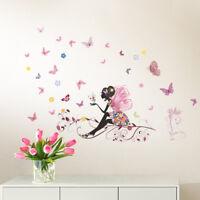 Wandtattoo Wandsticker Wandaufkleber Kinderzimmer Mädchen Schmetterlinge W3323