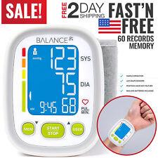 Blood Pressure Monitor BP Cuff Upper Arm Wrist Machine Pulse Heart Rate Checker