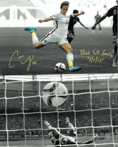 Carli Lloyd signed 2015 World Cup 16x20 Photo Best WC Goal 7/5/15 - TRISTAR