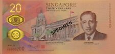 Singapore Bicentennial Commemorative $20 Note with folder