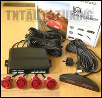 Einparkhilfe 4 Rot Sensoren Rückfahrwarner Rückfahrsystem Parksensoren KFZ Auto