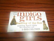 Indigo Girls Vintage Shaming Of The Sun Information Promo Only Sticker