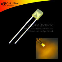 100pcs 2x3x4mm Square LED Diodes Diffused Yellow-Yellow Rectangle Rectangular