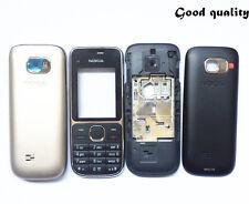 Good quality Nokia C2-01 full housing fascia front back cover case keypad black