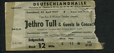 1977 Jethro Tull concert ticket stub Songs From The Wood Berlin Germany