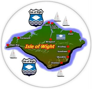 Isle Of Wight Mapa / Bandera - Grande Divertido Recuerdo Regalo Nevera Imán /