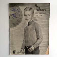 Patons Knitting Book No 220 Jumper Vest Cardigan 10 Patterns for Boys