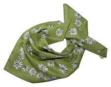 Trachten SCIARPA FOULARD DONNA UOMO Trachten Foulard Elegante Bianco Verde Erba