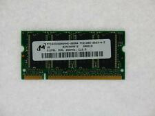 512MB Micron MT16VDDS6464HG-265B4 PC2100 333MHz 200-Pin DDR1 Laptop Memory