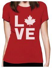 Canadian Maple Leaf LOVE Canada Day Women T-Shirt Gift Idea