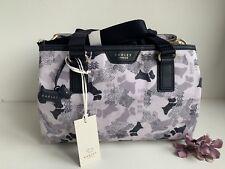 "Radley ""Data Dog"" Navy Chalk Multiway Cross body Oilskin Bag RRP £99- New"