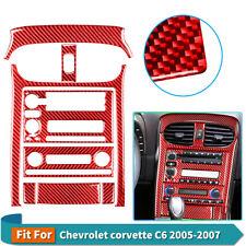 For Chevrolet corvette Center Console Decals Carbon Fiber Car Stickers Trim 8Pcs
