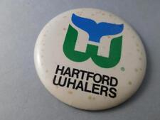 HARTFORD WHALERS NHL HOCKEY BUTTON LOGO VINTAGE  FAN SOUVENIR PIN BACK