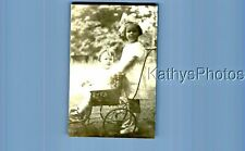 Found Vintage Photo D_7737 Girl Standing Behind Other In Stroller