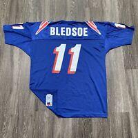 VINTAGE Champion New England Patriots Jersey Mens Size 52 Blue Drew Bledsoe