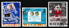 15c-35c, LIBERIA '1969 Apollo 11: First Man Moon Landing' Stamp set 3 - CTO/VF