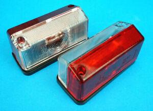 2 x Radex Model 925 Outline Red & White Marker Lamp Light Trailer Horse Box