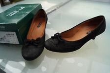 schicke PAUL GREEN Damen Schuhe Pumps Gr.6,5 / 40 sportnubuk Leder schwarz TOP