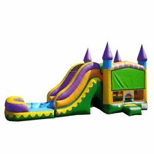 JumpOrange Commercial Grade Inflatable Jungle Zoo Titan Bounce House with Slide