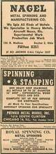 1946 Nagel Metal Spinning Dayton Ohio Royal Spinning Co Chicago Ad