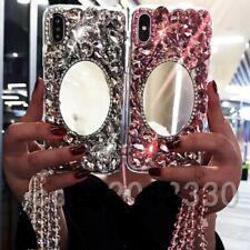 NEW COOL MIRROR DIAMOND DESIGNER BLING DIAMANTE CASE COVER GIFT IPHONE SAMSUNG