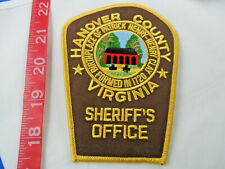 """Virginia - Hanover County Sheriff's Office Cloth Patch About 5"""" Top to Bottom"""