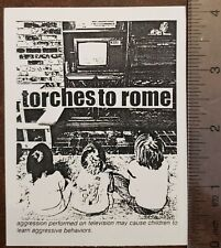 TORCHES TO ROME STICKER San Francisco Punk Rock Bread and Circuits Spitboy 1995