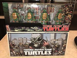 NECA TMNT Ninja Turtles 2008 & 2016 Foot NYCC Exclusive Mirage NEW! Both SEALED