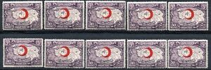 4/54.TURKEY.1928 50P.RED CRESCENT,MAP,CHARITY,SC.RA7 X 10 MNH,SOME ALTERED GUM
