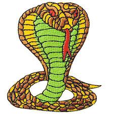 Snake King Cobra Animal Racing Biker Rocker Tattoo Shelby Iron-On Patches #A121