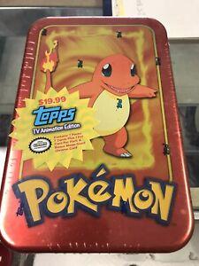Pokemon Topps TV Animation Edition Factory Sealed Charmander Tin 1999 Rare